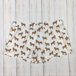 The Crop Stop Golden Retriever Pajama Shorts